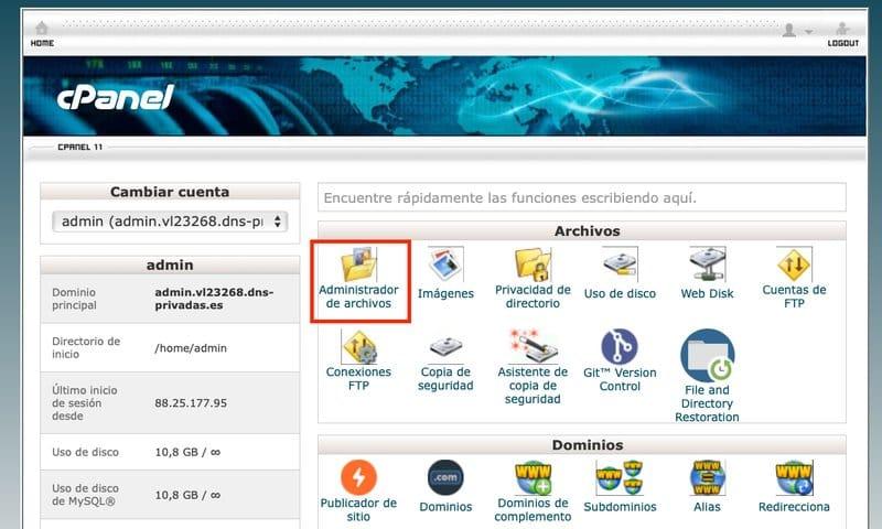 Administrador-archivos-cpanel